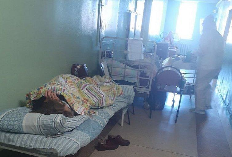 """Situacija vienoje iš Minsko ligoninių, (nuotr. """"Zerkalo"""") (nuotr. Gamintojo)"""