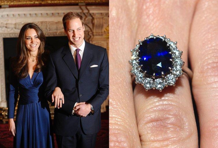 Kate Middleton sužadėtuvių žiedas (nuotr. Vida Press)