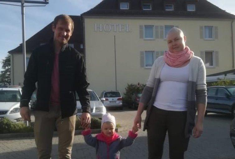 Rasa su vyru Nerijumi ir dukrele Lėja