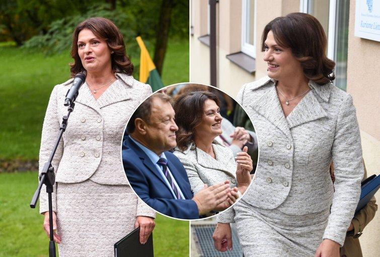 Diana Nausėdienė Rugsėjo 1-ąją Vilniaus lietuvių namuose (nuotr. Lietuvos Respublikos Prezidento kanceliarija/Viltė Domkutė)