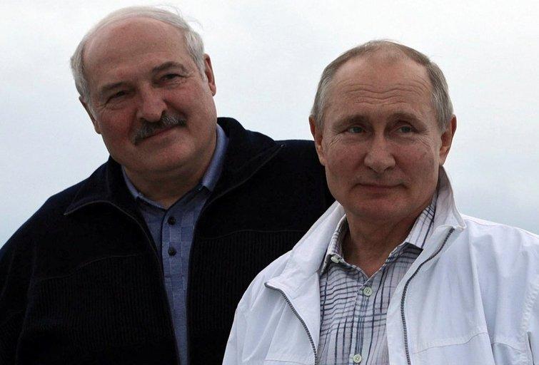 Aleksandras Lukašenka, Vladimiras Putinas (nuotr. SCANPIX)