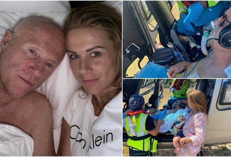 Johnas Caudwellas išgabentas į ligoninę (nuotr. Instagram)