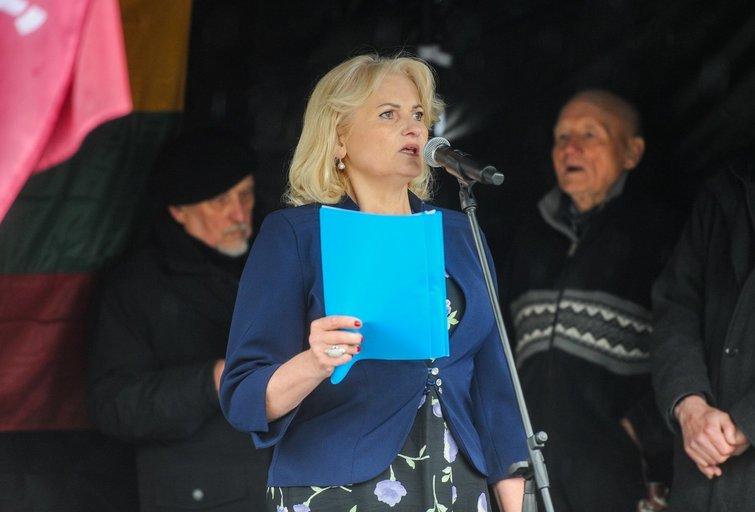 Rotušės aikštėje vyksta Astrauskaitės protestas (Fotodiena/ Viltė Domkutė)