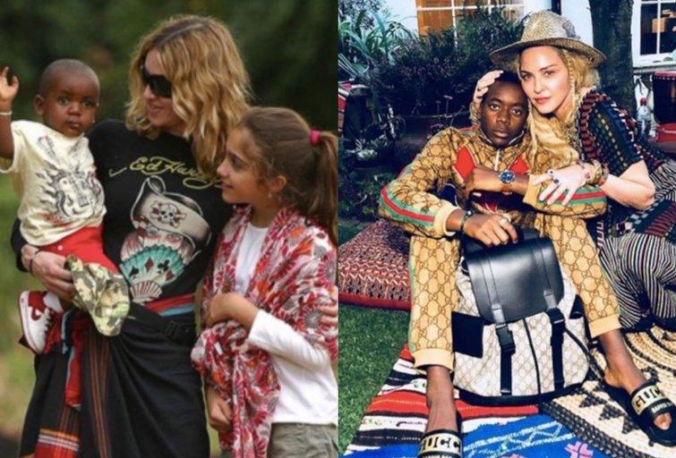 Madonna su sūnumi (nuotr. Instagram)
