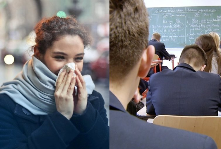 Mokiniai laukia hibridinio mokymo (tv3.lt fotomontažas)