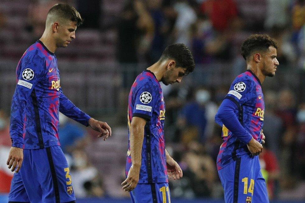 """""""Barcelona"""" nesėkme pradėjo Čempionų lygos turnyrą"""