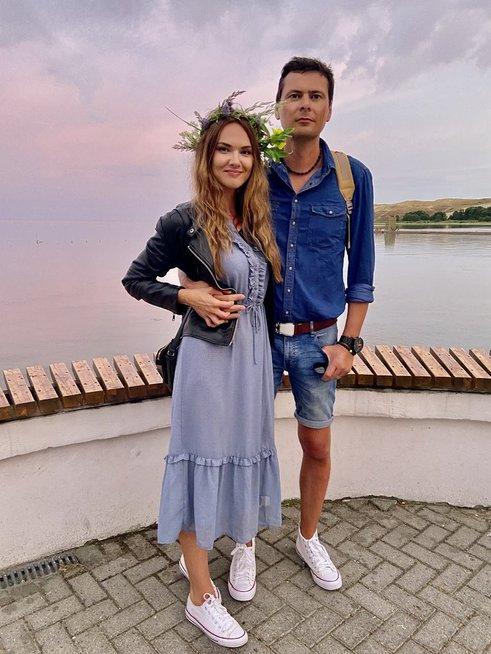 Donata Račaitė su mylimuoju Mantu