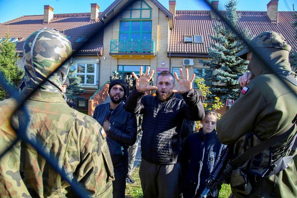 Migrantai Lenkijos ir Baltarusijos pasienyje