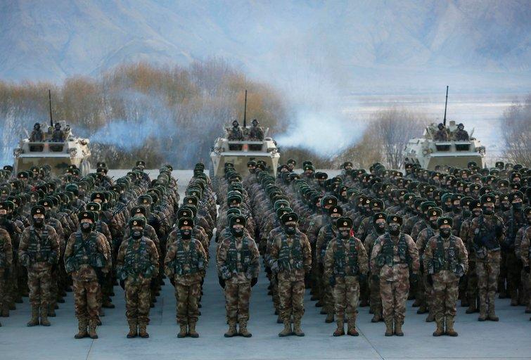 Kinijos kariuomenė (nuotr. SCANPIX)