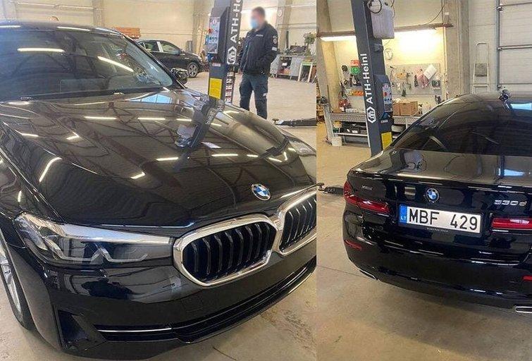 "Nežymėtas BMW policijos automobilis (""Rreidas Official"" NUOTR.)"