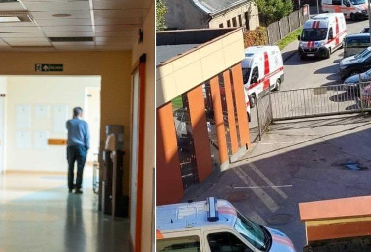 Pasidalino vaizdu prie ligoninės skubios pagalbos skyriaus – automobilyje gali tekti laukti ir keletą valandų (tv3.lt fotomontažas)
