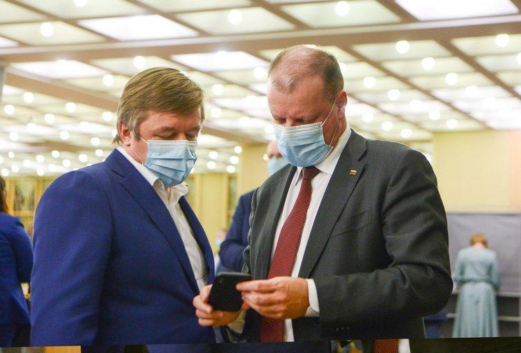 Ramūnas Karbauskis, Saulius Skvernelis (nuotr. Fotodiena/Justino Auškelio)