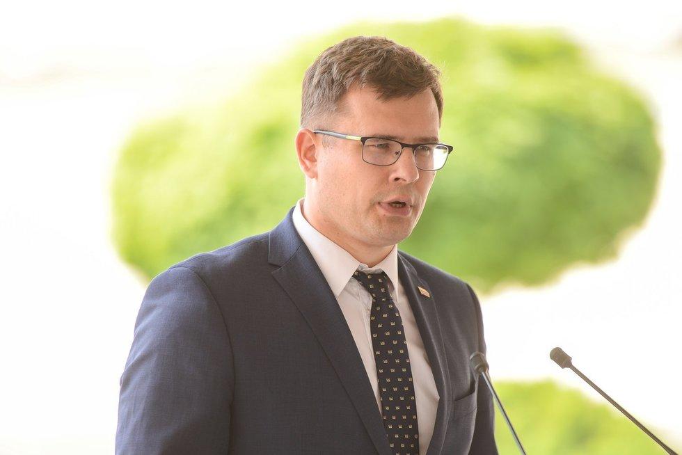 Prezidentūroje D. Kuliešius, A. Anušauskas, A. Bilotaitė (nuotr. Fotodiena/Justino Auškelio)