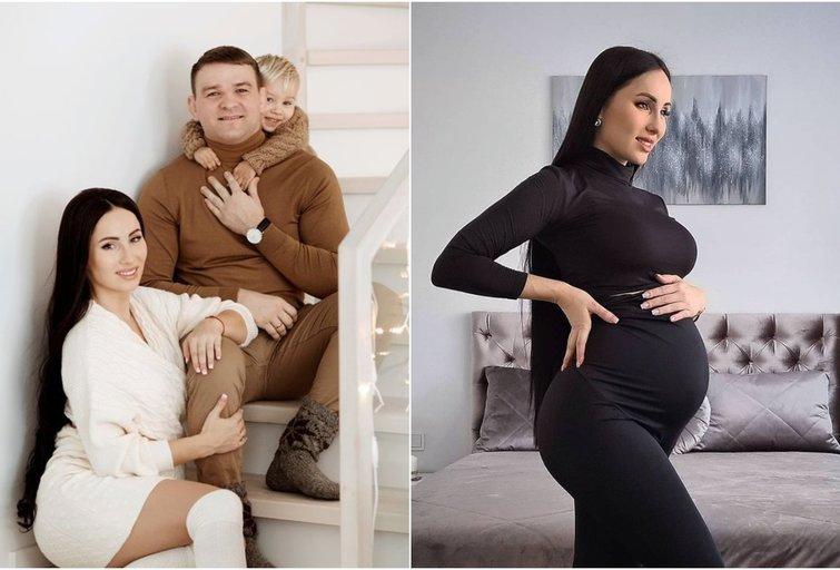 Greta Lebedeva ir Aleksandras Kazakevičius su sūnumi (tv3.lt fotomontažas)