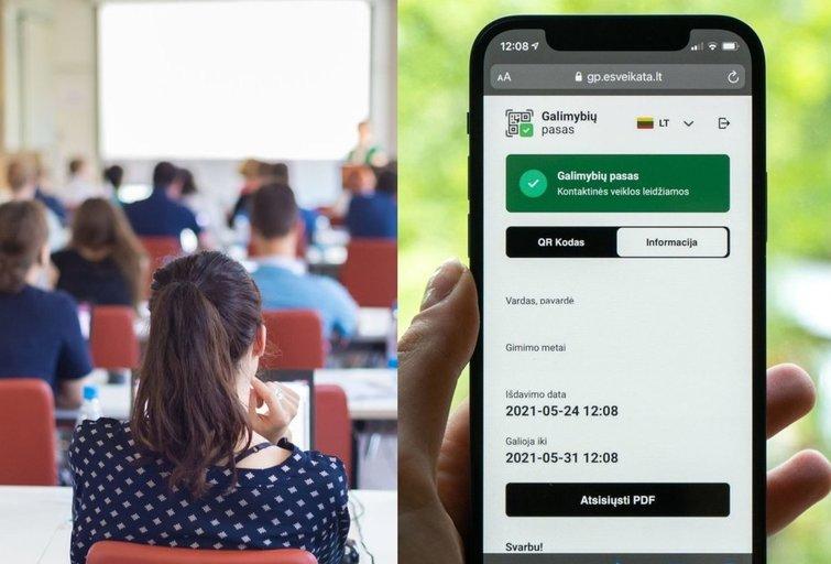 Kai kurie studentai piktinasi galimybių paso reikalavimu (tv3.lt fotomontažas)
