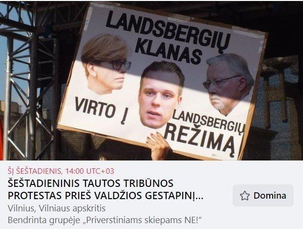 Pedagogė Astra Genovaitė Astrauskaitė rengia dar vieną protestą