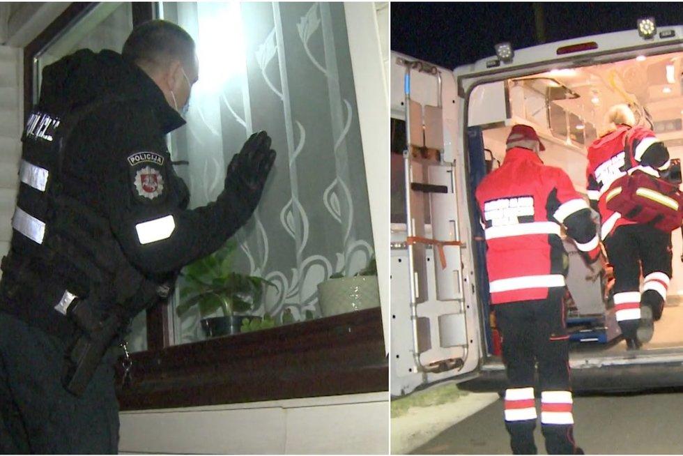 Pro namo langą pažvelgę pareigūnai suprato, kad veikti reikia žaibiškai: sunerimę buvo visi (nuotr. stop kadras)
