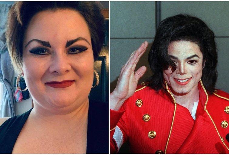 Kathleen Roberts ir Michaelas Jacksonas (instagram.com ir SCANPIX nuotr. montažas)