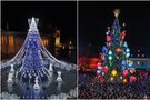 Vilniaus ir Kauno eglutė (tv3.lt fotomontažas)