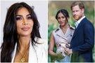 Kim Kardashian, Meghan Markle ir princas Harry (tv3.lt fotomontažas)
