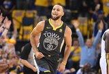 """Šventė čempionų kieme – Stephenas Curry grįžo, """"Warriors"""" laimėjo dar kartą"""