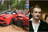 """Verslininkas Ugnius Kiguolis pateko į avariją: sumaitotas prabangus """"Ferrari"""""""