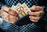 Ekonomistas svarsto, ar ne per daug lietuviui 57 eurai piniginėje?