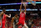 """""""Pelicans"""" namie nepaliko jokių šansų čempionams"""