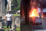 Jautri drama Rokiškyje: praeivis išgelbėjo vyrą iš užsiliepsnojusio automobilio