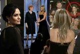 Amžinos priešės susitiko: internetas dūzgia dėl A.Jolie reakcijos į J.Aniston