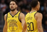 """Curry ir Thompsonas gali praleisti """"Warriors"""" serijos startą prieš """"Rockets"""""""