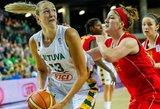Lietuvos moterų krepšinio rinktinė iškovojo pirmąją pergalę Europos čempionate
