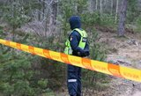 Mažeikiuose pareigūnai miške rado kuprinę su naujagimio lavonu