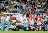 Lietuvį brutaliai traumavęs futbolininkas džiaugiasi aplankęs savo auką