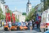 """Sostinės Gedimino prospekte – """"Aurum 1006 km lenktynių"""" repeticija"""