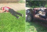 Stebėjosi visas kaimas: Radviliškyje girtas vyras lėkė su siaubingos būklės puvena