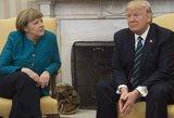 D. Trumpo ir A. Merkel susitikimas priminė spektaklį: nepasitenkinimas liejosi per kraštus