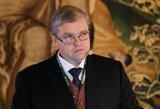 Vitas Vasiliauskas uždirba mažiausiai iš euro zonos centrinių bankų vadovų