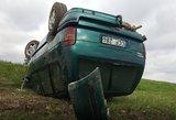 Panevėžio rajone – gausios pajėgos: automobilis virto ant stogo, gelbėjami sužeistieji