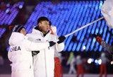 Netikėtumas: žaidynių atidaryme abi Korėjos žygiavo kartu