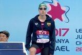 Lietuvos plaukimo viltis A.Šeleikaitė iškovojo antrą medalį pasaulio taurės etape