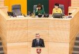 V.Pranckietis ragino kolegas pagaliau nustatyti Seimo narių atostogas