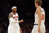 """Mindaugas Kuzminskas vėl pasiekė asmeninį rekordą, """"Knicks"""" šventė pergalę"""