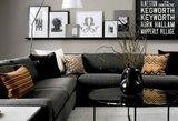 Subtilaus interjero akcentas - juodi baldai