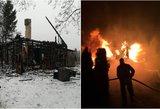 Vilniuje kartu su namu supleškėjo ir žmogus