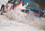"""""""Winter Rally"""" ekipažų greitį koreguoja sniegas"""