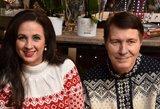 Laikas šeimai: Liveta ir Petras Kazlauskai susiderino kalėdinius megztinius