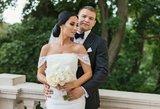 Besilaukianti G. Lebedeva parduoda savo vestuvinę suknelę: paviešino dar nematytas akimirkas