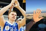 """""""Neptūno"""" krepšininkas Arnas Butkevičius pasipiršo įspūdingo grožio mylimajai"""