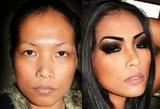 17 moterų, kurių išvaizdą visiškai pakeitė vizažistai